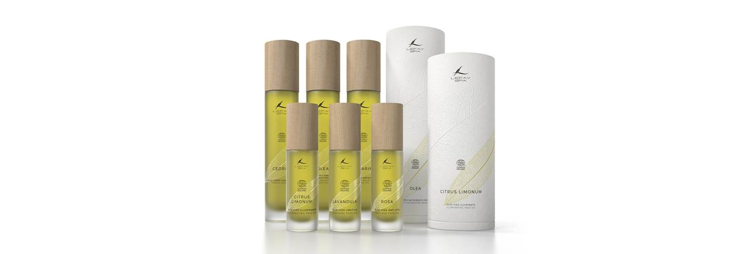 Cosmetic Oil Line Certified By Cosmos Organic